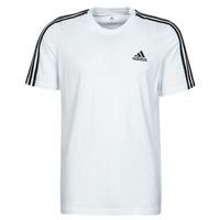 Oblečenie Muži Tričká s krátkym rukávom adidas Performance M 3S SJ T Biela