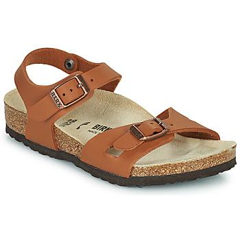 Topánky Dievčatá Sandále Birkenstock RIO Hnedá