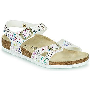 Topánky Dievčatá Sandále Birkenstock RIO Biela