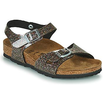 Topánky Dievčatá Sandále Birkenstock RIO Čierna / Zlatá