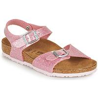 Topánky Dievčatá Sandále Birkenstock RIO PLAIN Ružová