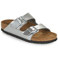Topánky Dievčatá Šľapky Birkenstock ARIZONA Strieborná