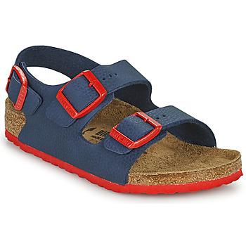 Topánky Chlapci Sandále Birkenstock MILANO Modrá / Červená
