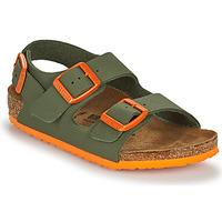 Topánky Chlapci Sandále Birkenstock MILANO Kaki / Oranžová