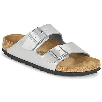 Topánky Ženy Šľapky Birkenstock ARIZONA Strieborná