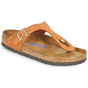 Topánky Ženy Žabky Birkenstock GIZEH SFB Oranžová