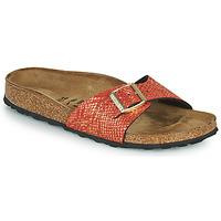 Topánky Ženy Šľapky Birkenstock MADRID Červená / Zlatá