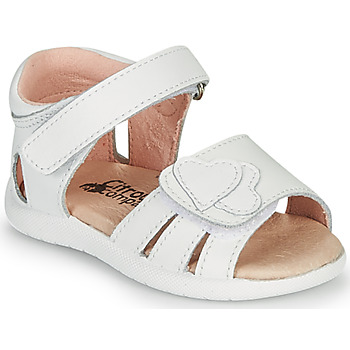 Topánky Dievčatá Sandále Citrouille et Compagnie OLESS Biela