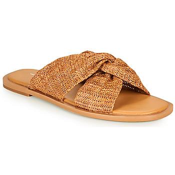 Topánky Ženy Šľapky Vanessa Wu SD2223CM Hnedá