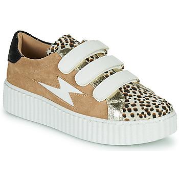Topánky Ženy Nízke tenisky Vanessa Wu BK2206LP Béžová / Leopard
