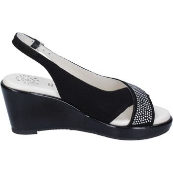 Topánky Ženy Sandále Adriana Del Nista Sandali Camoscio Strass Nero