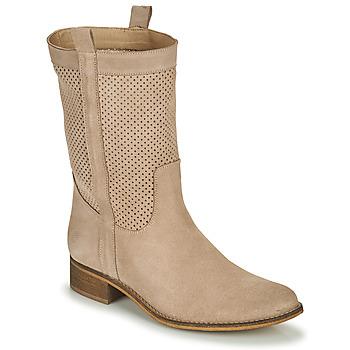 Topánky Ženy Čižmy do mesta Betty London ONEVER Béžová