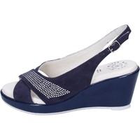 Topánky Ženy Sandále Adriana Del Nista Sandali Camoscio Strass Blu