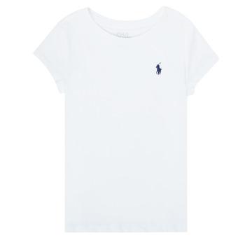 Oblečenie Dievčatá Tričká s krátkym rukávom Polo Ralph Lauren ZALLIE Biela