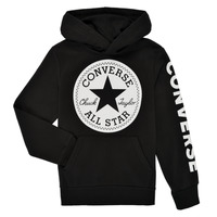 Oblečenie Chlapci Mikiny Converse SIGNATURE CHUCK PATCH HOODIE Čierna