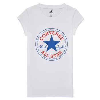 Oblečenie Dievčatá Tričká s krátkym rukávom Converse TIMELESS CHUCK PATCH TEE Biela