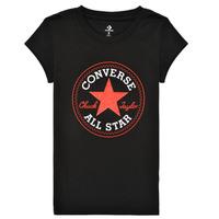 Oblečenie Dievčatá Tričká s krátkym rukávom Converse TIMELESS CHUCK PATCH TEE Čierna