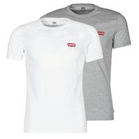 Oblečenie Muži Tričká s krátkym rukávom Levi's 2PK CREWNECK GRAPHIC Biela