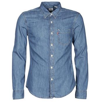 Oblečenie Muži Košele s dlhým rukávom Levi's SUNSET 1 PKT SLIM Modrá