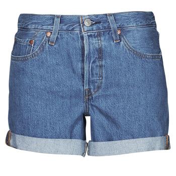 Oblečenie Ženy Šortky a bermudy Levi's 501 ROLLED SHORT Modrá