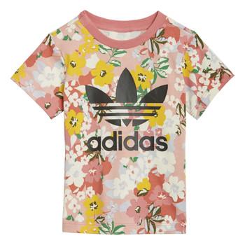 Oblečenie Dievčatá Tričká s krátkym rukávom adidas Originals DREZZI Viacfarebná