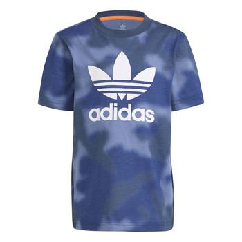 Oblečenie Chlapci Tričká s krátkym rukávom adidas Originals GN4119 Modrá