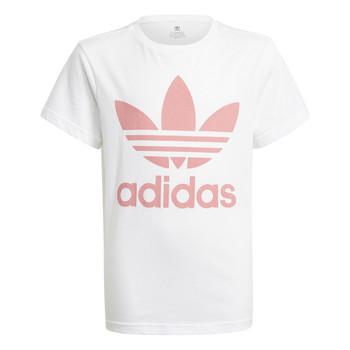 Oblečenie Deti Tričká s krátkym rukávom adidas Originals HOULILA Biela