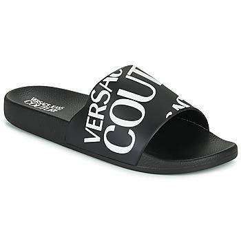 Topánky Muži športové šľapky Versace Jeans Couture TENNIA Čierna / Biela