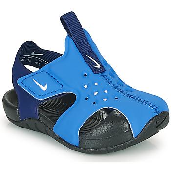 Topánky Chlapci športové šľapky Nike SUNRAY PROTECT 2 TD Modrá