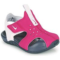 Topánky Dievčatá športové šľapky Nike SUNRAY PROTECT 2 TD Fialová