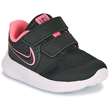 Topánky Dievčatá Univerzálna športová obuv Nike STAR RUNNER 2 TD Čierna / Ružová