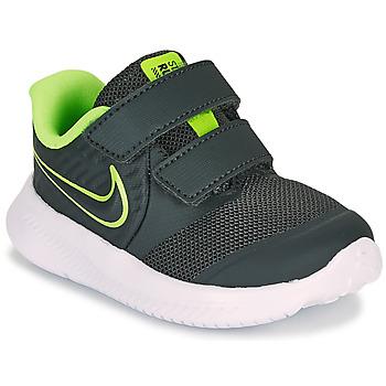 Topánky Chlapci Univerzálna športová obuv Nike STAR RUNNER 2 TD Čierna / Zelená