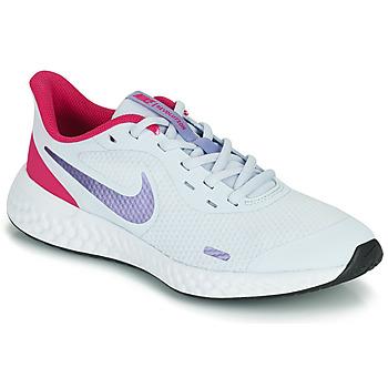 Topánky Dievčatá Univerzálna športová obuv Nike REVOLUTION 5 GS Modrá / Fialová