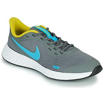 Topánky Chlapci Univerzálna športová obuv Nike REVOLUTION 5 GS Šedá / Modrá