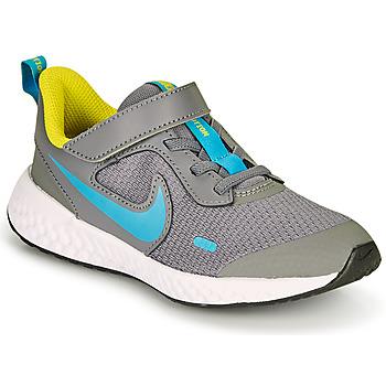 Topánky Chlapci Univerzálna športová obuv Nike REVOLUTION 5 PS Šedá / Modrá