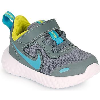Topánky Chlapci Univerzálna športová obuv Nike REVOLUTION 5 TD Šedá / Modrá