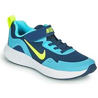 Topánky Chlapci Univerzálna športová obuv Nike WEARALLDAY PS Modrá / Zelená