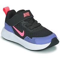 Topánky Dievčatá Univerzálna športová obuv Nike WEARALLDAY TD Čierna / Modrá