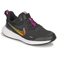 Topánky Dievčatá Nízke tenisky Nike REVOLUTION 5 SE PS Čierna