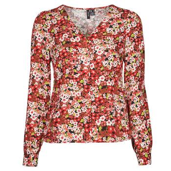 Oblečenie Ženy Košele a blúzky Vero Moda VMSIMPLY EASY Červená