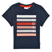 Oblečenie Chlapci Tričká s krátkym rukávom BOSS ENOLITO Námornícka modrá