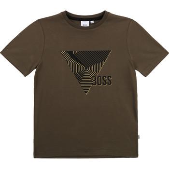 Oblečenie Chlapci Tričká s krátkym rukávom BOSS J25L02-64C-B Kaki