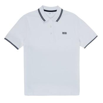 Oblečenie Chlapci Polokošele s krátkym rukávom BOSS TONNELA Biela