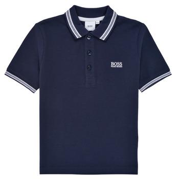 Oblečenie Chlapci Polokošele s krátkym rukávom BOSS TONNELA Námornícka modrá