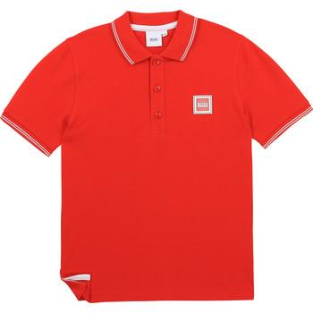 Oblečenie Chlapci Polokošele s krátkym rukávom BOSS BARBORA Červená