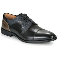 Topánky Muži Derbie Redskins WINDSOR Čierna / Námornícka modrá / Šedá
