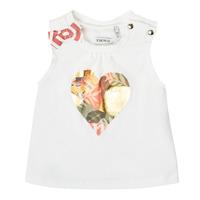 Oblečenie Dievčatá Tielka a tričká bez rukávov Ikks XS10030-19 Biela