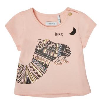 Oblečenie Dievčatá Tričká s krátkym rukávom Ikks XS10100-32 Ružová