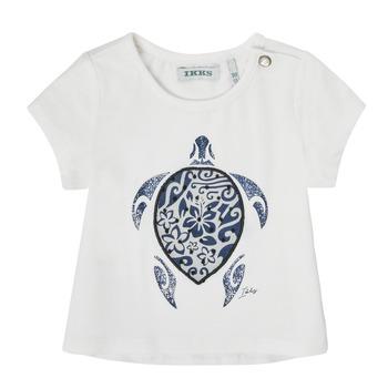 Oblečenie Dievčatá Tričká s krátkym rukávom Ikks XS10070-19 Biela