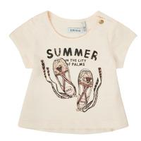 Oblečenie Dievčatá Tričká s krátkym rukávom Ikks XS10090-11 Biela